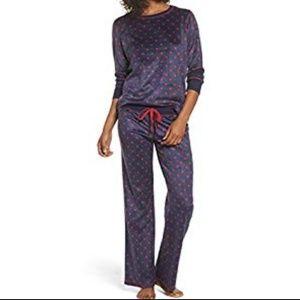NWT PJ Salvage polar fleece polka dot pajama set